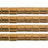 Miyuki Tila Bead 5X5mm 2 Hole Dark Bronze Opaque Metallic